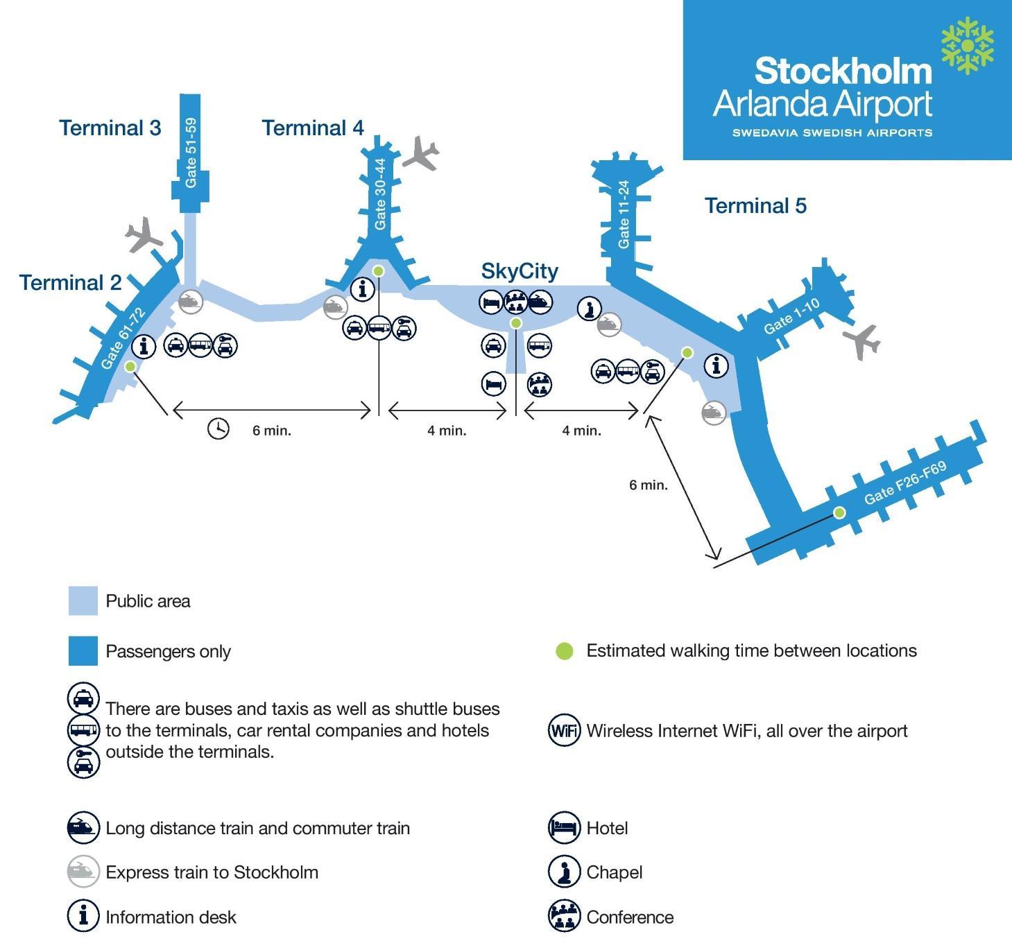 Arlanda Sverige Karta Stockholm Arlanda Karta Sodermanland Och