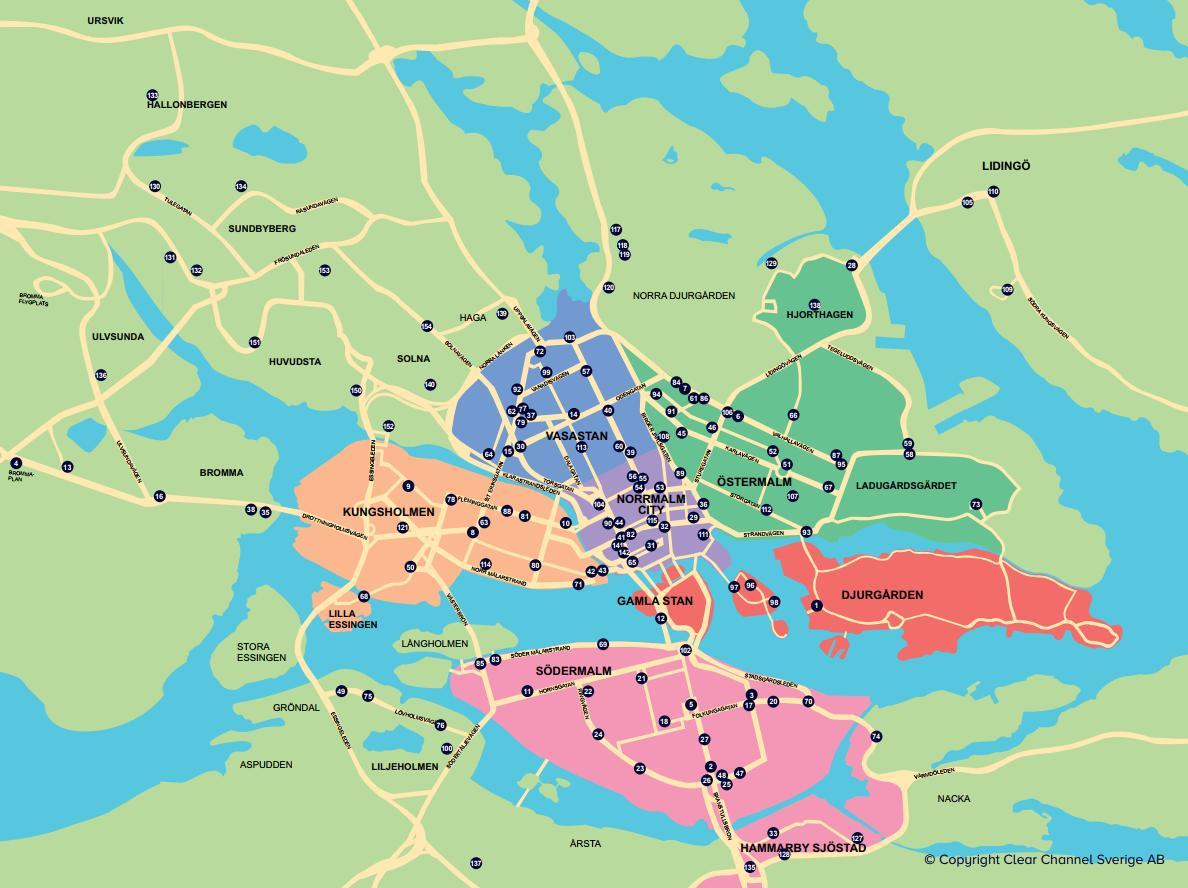 City Bike Stockholm Karta Karta Over Staden Cykel Karta
