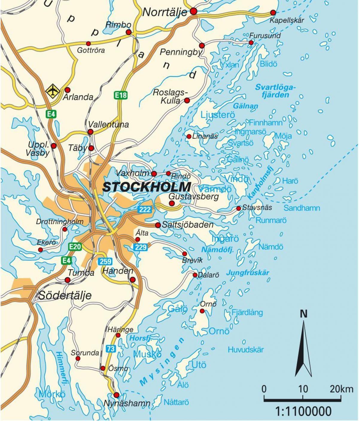 Karta Over Stockholm Stockholm Sverige Karta City Sodermanland