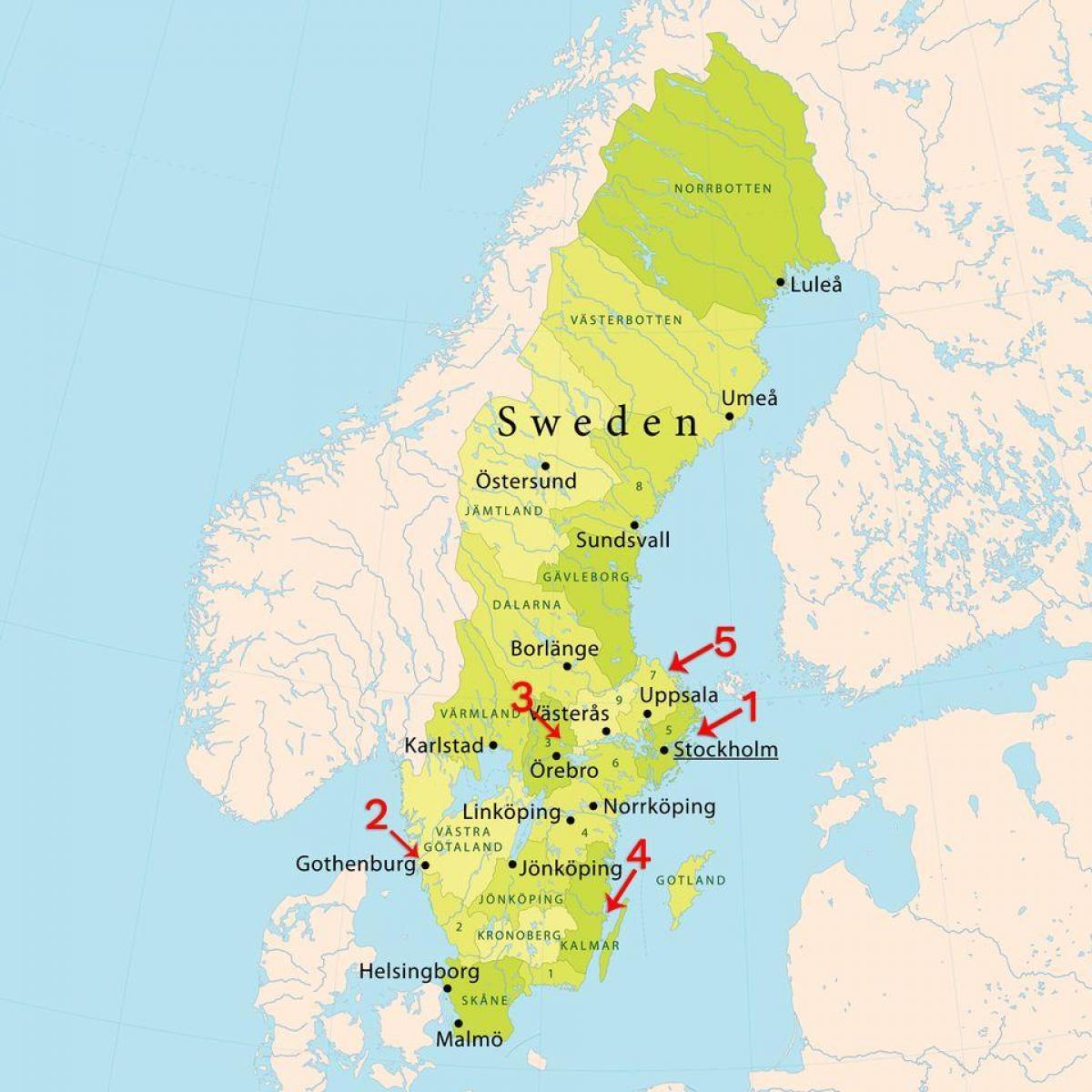 Karta Sverige Borlange.Stockholm Strander Karta Karta Over Stockholm Strander