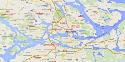 Karta Over Arlanda Flygplats.Stockholm Map Kartor Stockholm Sodermanland Och Uppland Sverige
