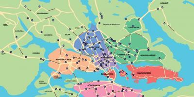 Stockholm Fororter Karta Karta Over Stockholms Fororter