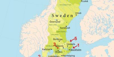 Stockholm Map Kartor Stockholm Sodermanland Och Uppland Sverige