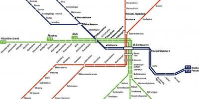 t bana karta stockholm Stockholm map   Kartor Stockholm (Södermanland och Uppland, Sverige) t bana karta stockholm